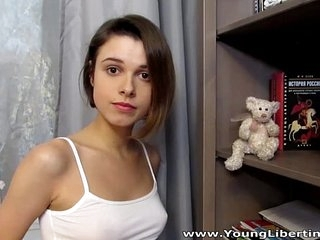 Young Libertines - Hot intense fucking Carmen Fox cumshot teen porn 6 min