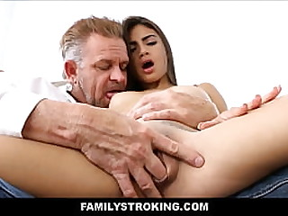 Young Sexy Thick Small Tits Latina Stepdaughter Michelle Martinez Pussy Licked To Orgasm By Horny Stepdad